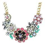 Joan Rivers Goldtone Floral Bouquet Statement Necklace w/Extender