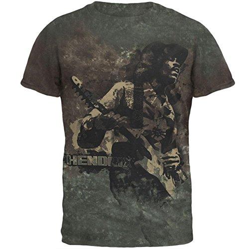 Jimi Hendrix Stone Free T-shirt - Jimi Hendrix Stone Free Tie Dye Mens T Shirt Brown X-LG
