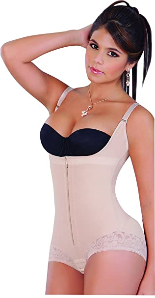 Fajas Salome Mujer Hip Hugger Powernet Body Shaper – Cremallera colombianas 0413