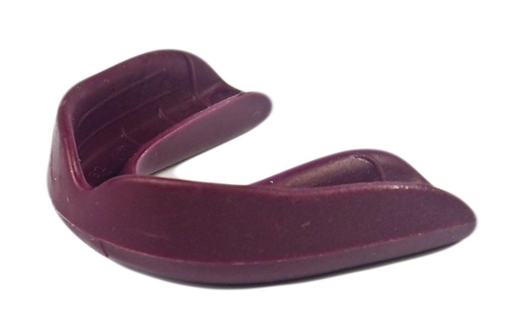 100 Pack! SafeTGard Youth Form Fit Mouthguard without Strap - Available in 10 Colors! (Maroon)