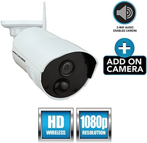 Night Owl Security Add-on Indoor/Outdoor Wireless 1080p AC Powered Camera, White (CAM-WNR2P-OU) 51sArgPQ68L