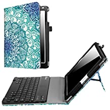 Fintie New iPad 9.7 Inch 2017 / iPad Air 2 / iPad Air Keyboard Case - Premium PU Leather Folio Stand Cover with Removable Wireless Bluetooth Keyboard for Apple iPad 9.7 2017 Model, iPad Air 1 2 (Z-Emerald Illusions)