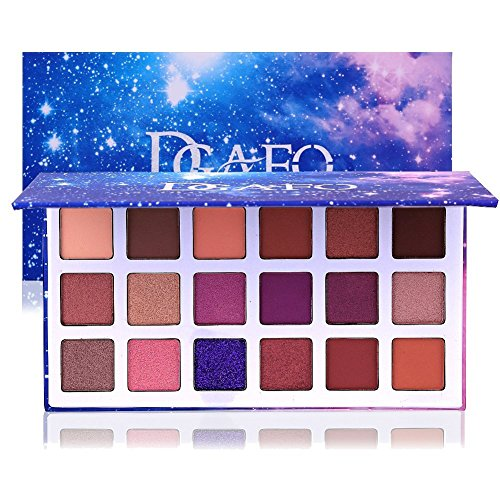 - DONGXIUB Glitter Metal Shimmer Matte 18 Colors Eyeshadow Combination Smoky with Starry Sky Makeup Palette Cosmetics