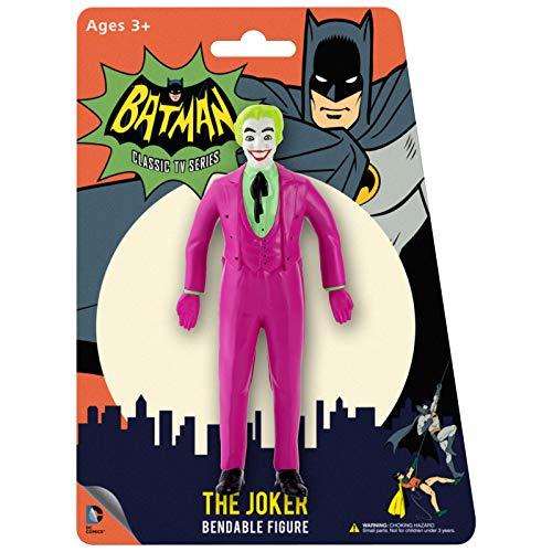 NJ Croce Batman Classic TV Series The Joker Bendable Figure ()