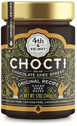 Chocti Chocolate Ghee Cacao Spread by 4th and Heart, 12 Ounce, Nut-free, Grass-fed, Lactose-free, Certified Paleo