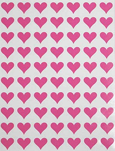(Hearts Stickers Pink 0.5 inch (13mm) 1/2