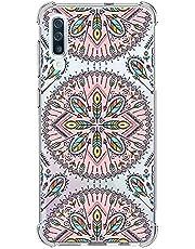 Suhctup Funda Compatible con Samsung Galaxy A60/M40 Carcasa Transparente,Dibujo Diseño Flor [Protección Caídas] Ultra-Delgado Flexible Silicona TPU Estuche Cover para Galaxy A60/M40,Mandala 1