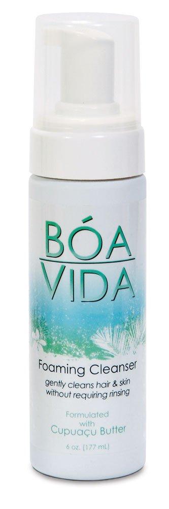 BoaVida Foaming Skin Cleanser, No-rinse, w/ Cupuacu Butter, 6 Oz, OVI21033 (Case of 12)