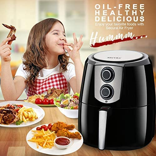 Bundle Secura Electric Hot Air Fryer 5.5QT Healthy Oil-free Cooker /& 11pcs FDA Air Fryer Accessories