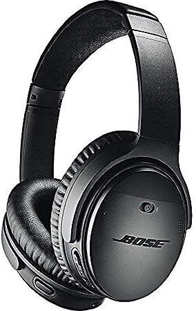 Bose QuietComfort 35 II Cuffie Wirelesscon cavo, 3 livelli di riduzione del rumore, Bose Connect App, con Alexa Integrata, Nero