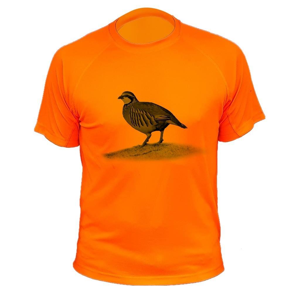 Camisetas personalizadas de caza, perdiz roja - Ideas regalos AtooDog