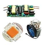 led world 100W DIY full spectrum 380nm-840nm high power led lamp kits,chip+driver+heatsink cooling fan+led lens