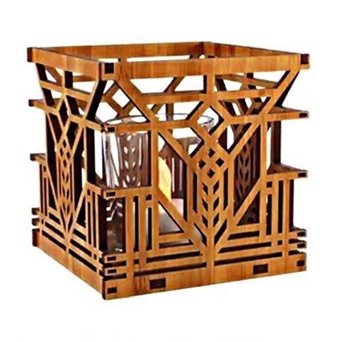 (Frank Lloyd Wright Lake Geneva Design Hardwood Votive by Lightwave)