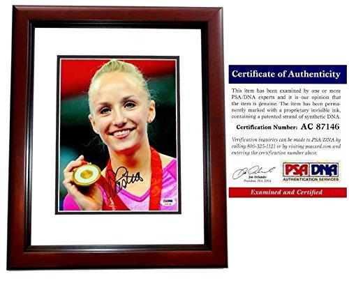 Nastia Liukin Signed - Autographed 2008 Beijing Olympics Gymnastics 8x10 Photo MAHOGANY CUSTOM FRAME - PSA/DNA Certificate of Authenticity (COA) - Olympic Gold Medal Gymnast