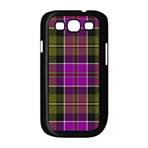 Custom Check Pattern Back Cover Case for SamSung Galaxy S3 I9300 JNS3-075