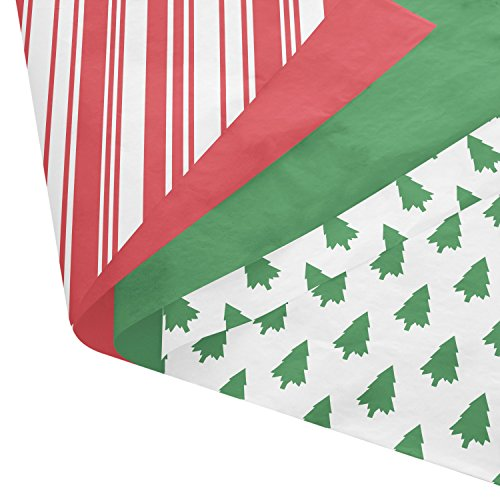 Classic Christmas Gift Wrapping Tissue Paper Set - 120 Sheets - 14