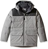 Marmot Boys' Rail Jacket, Phantom Grey/Slate Grey, Medium