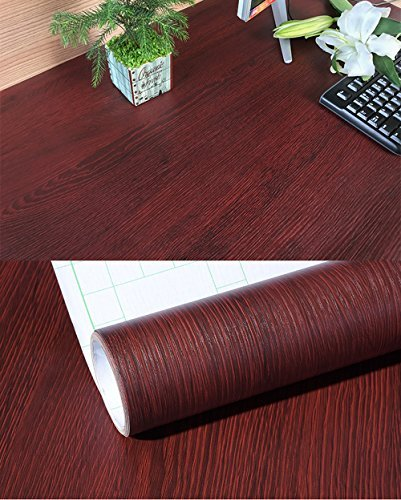 Decorative Faux Wood Grain Contact Paper Vinyl Self Adhesive Shelf Drawer Liner for Bathroom Kitchen Cabinets Shelves Table Arts and Crafts Decal 24x117 Inches by Glow4u (Image #2)