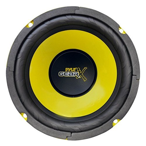 Pyle 6.5 Inch Mid Bass Woofer Sound Speaker System - Pro Loud Range Audio 300 Watt Peak Power w/ 4 Ohm Impedance and 60-20KHz Frequency Response for Car Component Stereo PLG64 (Full Pro Set Cable)