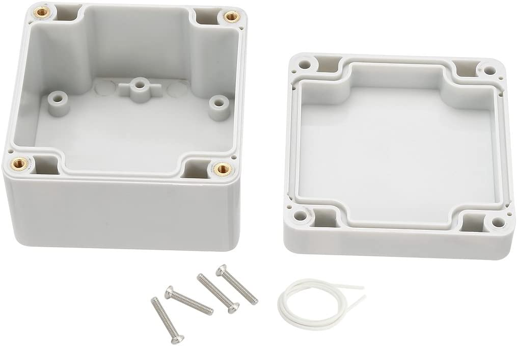 sourcingmap 6.22x3.54x1.81 ABS Junction Box Universal Project Enclosure Gray 158mmx90mmx46mm