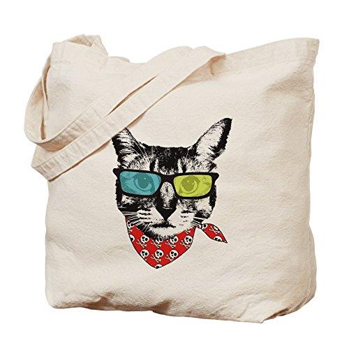 CafePress diseño de gato con gafas de sol–Gamuza de bolsa de lona bolsa, bolsa de la compra