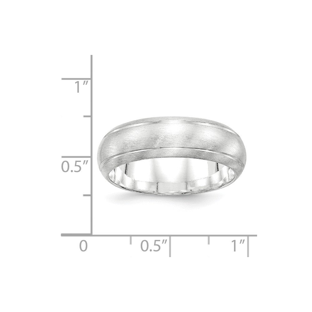 Jewel Tie 925 Sterling Silver 7mm Satin Finish Wedding Band