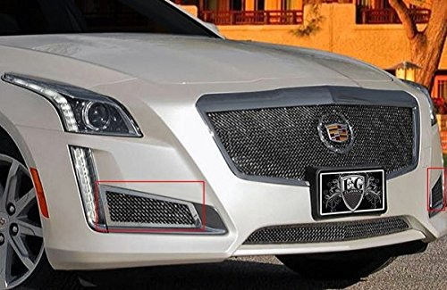 E&G CLASSICS CADILLAC CTS 2014 2015 FINE MESH BRAKE DUCT COVERS 1007-010W-14 Brake Duct Covers