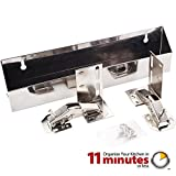 Hardware Resources TOSS11-R Wide Sink Tipout Tray Pack, Stainless Steel