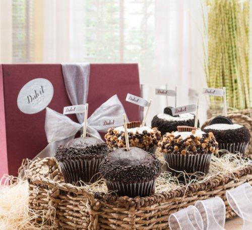 Chocolate Cupcake Sampler Gift Box -6 Count.