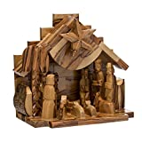 Kurt Adler LOC0003 7.9'' Olive Wood Nativity Music Box