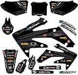 04 crf 450 graphics - Senge Graphics 2002-2004 Honda CRF 450R Mayhem Black Graphics kit