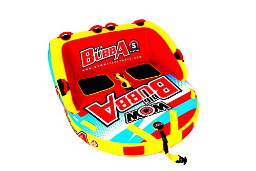 WoW World of Watersports, 17-1050 Big Bubba Hi Vis 1 to 2 Person Towable Deck Seat, Front and Back Tow Points