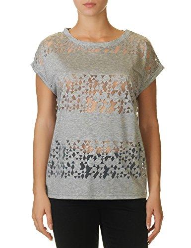 Ichi Women's Leni Women's Grey T-Shirt Grey