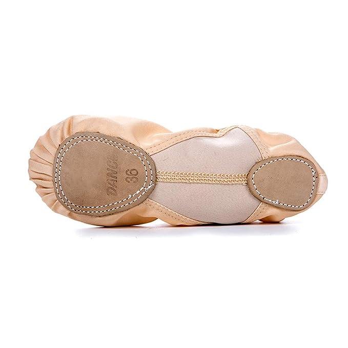 LFEWOX Zapatillas de ballet planas para mujer, zapatillas de ...