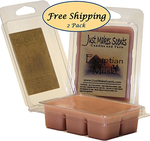 2 pack egyptian musk scented soy wax melts long lasting fragrance wax cubes hand poured in. Black Bedroom Furniture Sets. Home Design Ideas