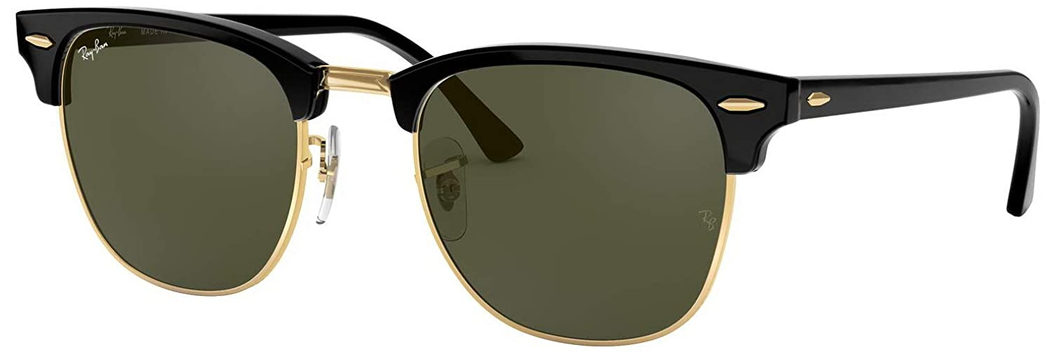 ea3128b31f Amazon.com  New Ray Ban Clubmaster RB3016 W0365 Ebony Arista G-15 XLT 49mm  Sunglasses  Shoes