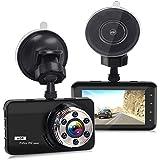 Dash Cam, Car Dash Camera Dashboard 3.0 Inch HD Screen FULL 1080P 170 Degree Super Wide Angle Cameras Recorder Support G-Sensor, Motion Detection, Parking Mode Night Vision