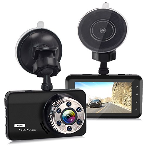 Dash Cam, Car Dash Camera Dashboard 3.0 Inch HD Screen FULL 1080P 170 Degree Super Wide Angle Cameras Recorder Support G-Sensor, Motion Detection, Parking Mode Night Vision