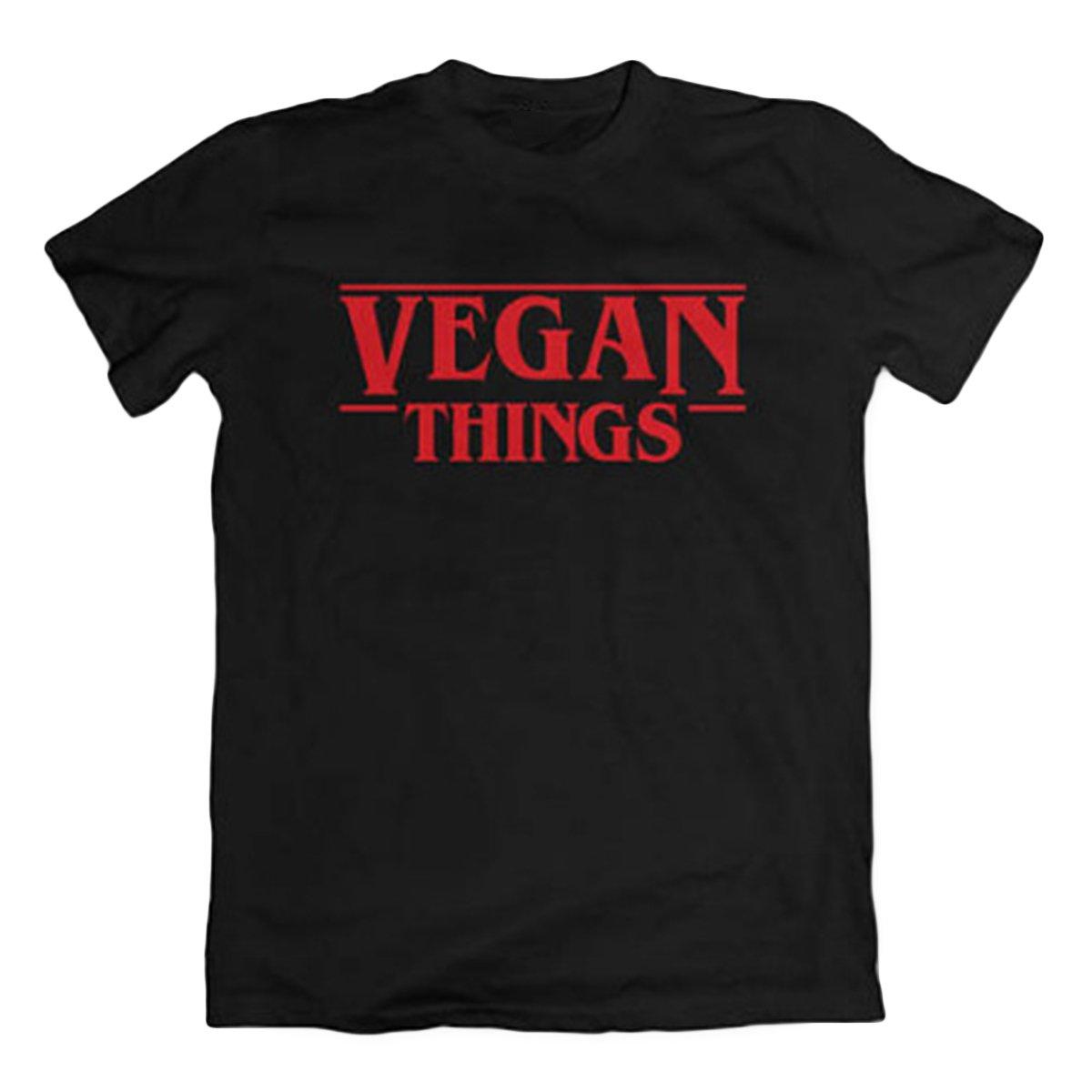 Las Camisetas de Las Cosas Veganas de Las Mujeres Ponen Letras a Las Camisas vegetarianas Camisetas de Manga Corta: Amazon.es: Ropa y accesorios