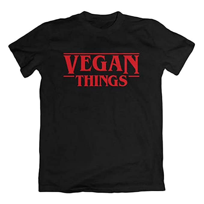 Wefchogvr Las Camisetas de Las Cosas Veganas de Las Mujeres Ponen Letras a Las Camisas vegetarianas