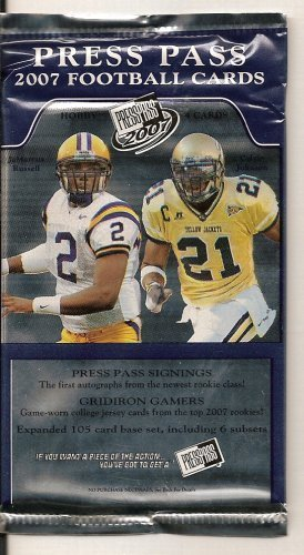 - 2007 Press Pass Football Hobby Pack - Possible Auto - 4 Cards Per Pack