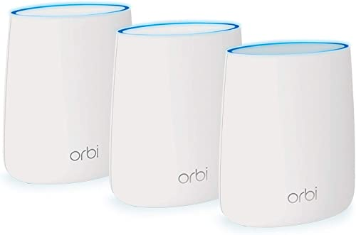 NETGEAR Orbi Ultra-Performance Whole Home Mesh WiFi System – WiFi router and two satellite extender with speeds up to 3Gbps over 7,500 sq. feet, AC3000 RBK53