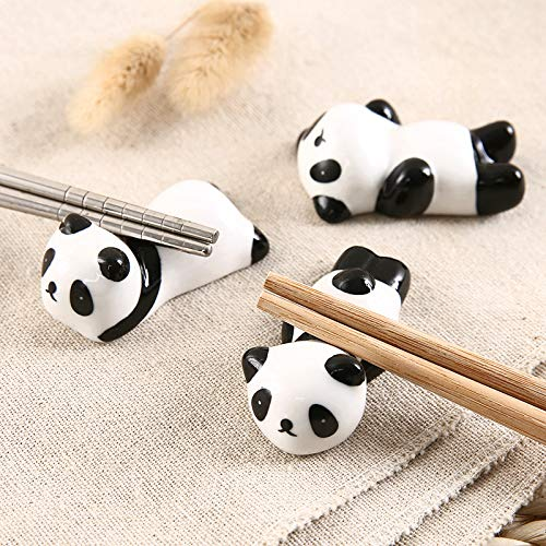 Wall of Dragon Storage Trays Cute Panda ceramic chopsticks holder chopsticks care household utensils Japanese creative animal storage tray by Wall of Dragon