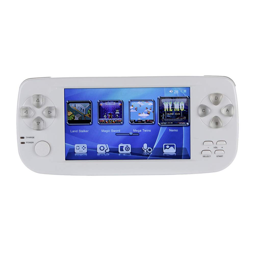 Matoen Handheld Game Console 4.3 16GB 3000 Classic Portable Game Console Pap-KIII (White)