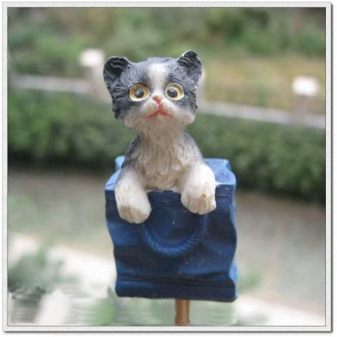 Kitten Flower Pot Garden Ornament Cat in Flower Pot Ornament