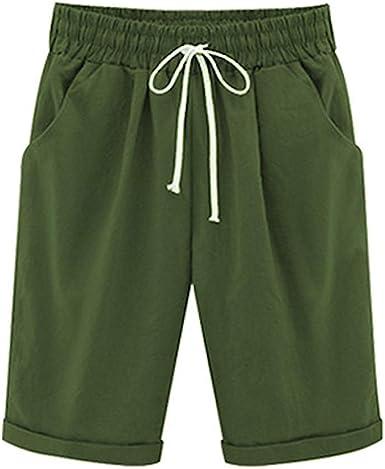 Bermudas para Mujer hasta De Algodón Cortos Pantalones La Mode De ...