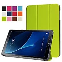 ERLI Samsung Galaxy Tab A 10.1 (SM-T580N/SM-T585N) Case, PU Leather and Hard PC Slim-Fit Flip Stand Smart Case Cover (With Auto Wake / Sleep Feature) for Samsung Galaxy Tab A 10.1 (SM-T580N/SM-T585N) 10.1-Inch Android Tablet (Green)