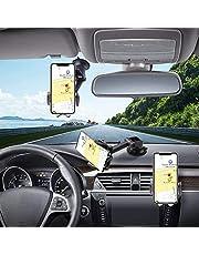 Hapfish Telefoonhouder Auto, 3 in 1 Universele Mobiele Telefoonhouder Auto voor Dashboard en Voorruit en Ventilatie, 360° Rotatie Auto Telefoonhouder Accessoires voor iPhone 12 11 PRO Max, Samsung