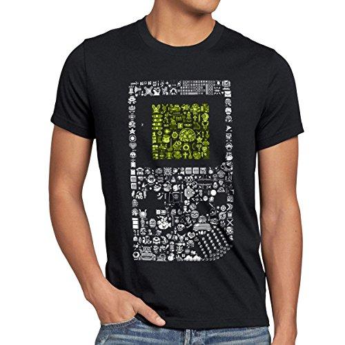 style3 8-Bit Game T-Shirt Herren pixel boy, Größe:M;Farbe:Schwarz