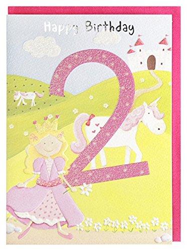Cumpleaños Tarjeta de 2º cumpleaños niña Princesa caballo ...